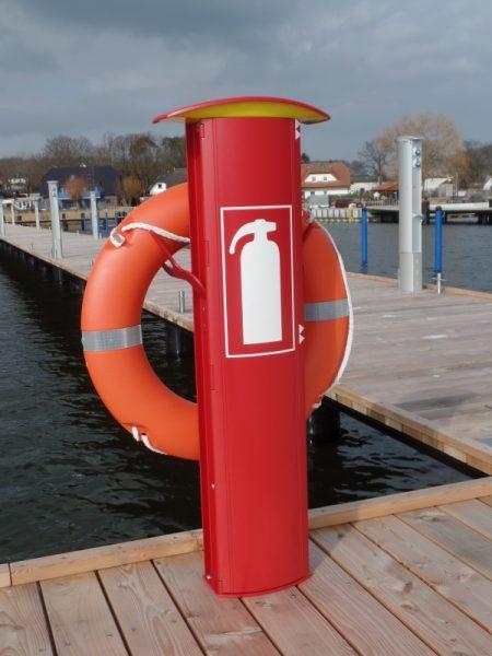 Rescue-Säule am Wasserwanderrastplatz Sellin